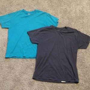 Men's blue short sleeve tshirts (set of 2)